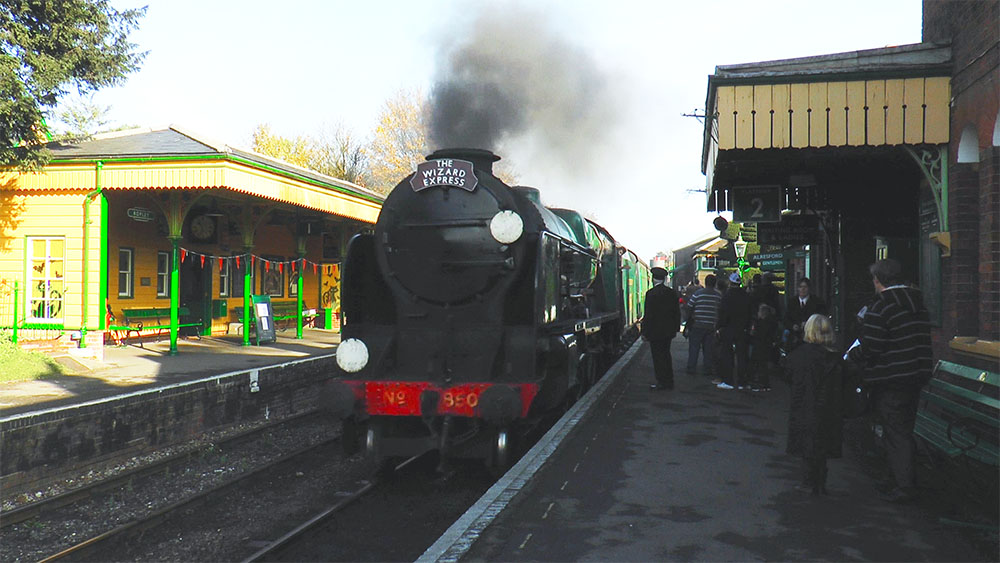 Image of a steam train Wizard Express for Events Video